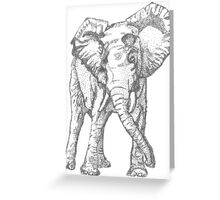 Dotted Elephant Greeting Card