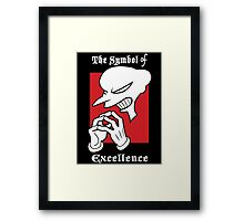 The Symbol of Excellence Framed Print