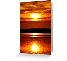 Sun Reflection Greeting Card