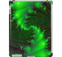 Green Spirals iPad Case/Skin