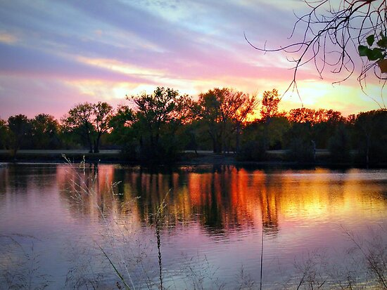 Evening Blessing~Early November In Kansas by Vince Scaglione