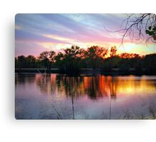 Evening Blessing~Early November In Kansas Canvas Print