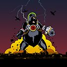 Giant Robot Nazi Gorilla iPad by Ross Robinson