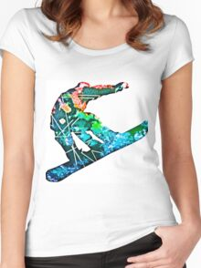 Retro snowboarder Women's Fitted Scoop T-Shirt