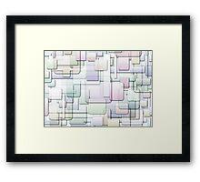 gradient overlap Framed Print