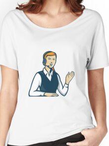 Telemarketer Call Center Operator Retro Women's Relaxed Fit T-Shirt