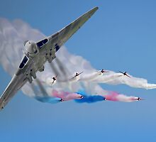 Vulcan And The Red Arrows by Colin  Williams Photography