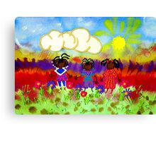 Little Girlfriends Canvas Print