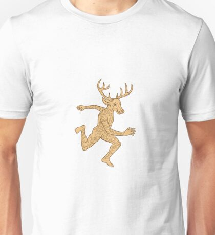 Half Man Half Deer With Tattoos Running   Unisex T-Shirt
