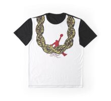 Old School Gold Rope Chain and classic logo 2 - www.art-customized.com Graphic T-Shirt