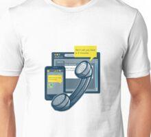 Telephone Smartphone Website Call Back  Unisex T-Shirt