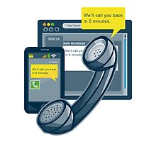 Telephone Smartphone Website Call Back  by retrovectors