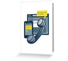 Telephone Smartphone Website Call Back  Greeting Card