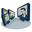 Webinar Video Conference Retro  by retrovectors