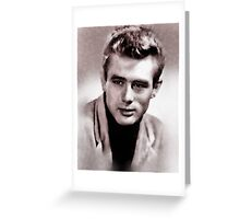 James Dean by John Springfield Greeting Card