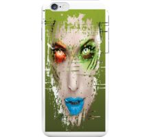 GREEN FACE GIRL iPhone Case/Skin