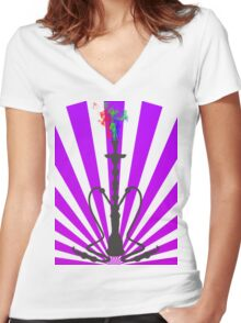 Sultan's Cloud Women's Fitted V-Neck T-Shirt