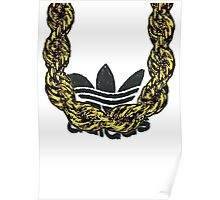 Old School Gold Rope Chain and classic logo 1 - www.art-customized.com Poster