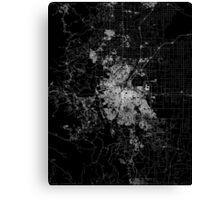 Denver map Colorado Canvas Print