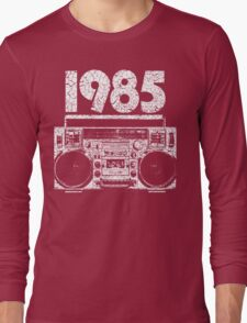 1985 Boombox Distressed Graphic Long Sleeve T-Shirt
