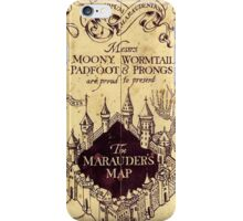 The Marauders Maps castle iPhone Case/Skin