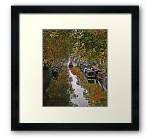 Autumn on the canal Framed Print