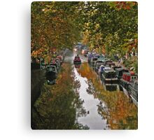 Autumn on the canal Canvas Print