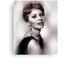 Sophia Loren Hollywood Icon by John Springfield Canvas Print