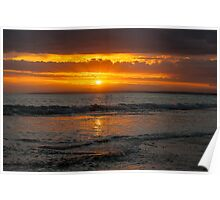 13th Beach Sunset Poster