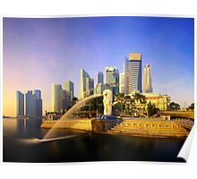 Merlion Sunrise - Iconic Singapore Poster