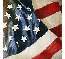 America flag Photographic Print