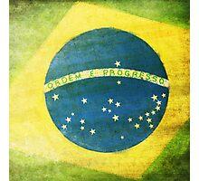 Brazil flag Photographic Print