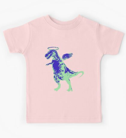 Angel Rex (inverted blue and mint) Kids Tee