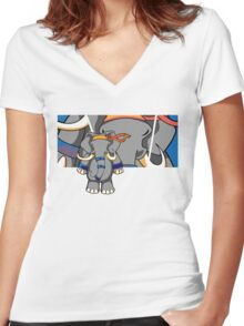 Dung Fu 2 Women's Fitted V-Neck T-Shirt