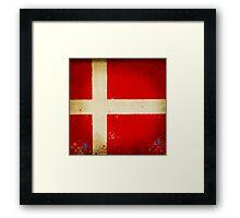 Denmark flag Framed Print