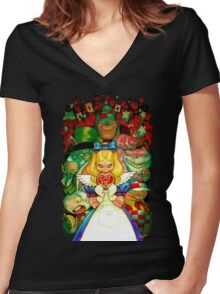 Hello Alice Women's Fitted V-Neck T-Shirt