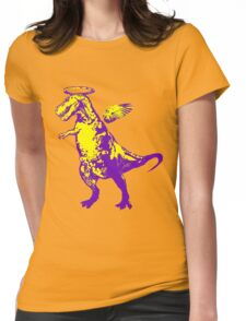 Angel Rex (purple and yellow) Womens Fitted T-Shirt