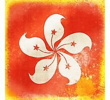 Hong Kong China flag Photographic Print