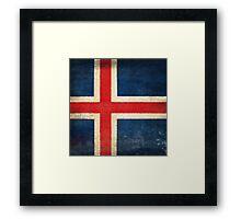 Iceland flag  Framed Print