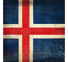 Iceland flag  Photographic Print