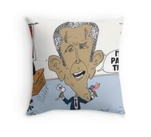 Victorious Barack Obama caricature Throw Pillow