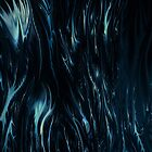abstract blue ipad case by rafi talby by RAFI TALBY