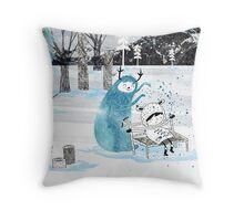 Snow Monster Throw Pillow