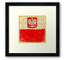 Poland flag Framed Print