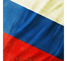 Russia flag  Photographic Print