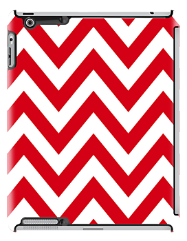 zigzag chevron pattern in red color by nadil