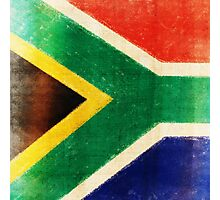 South Africa flag  Photographic Print