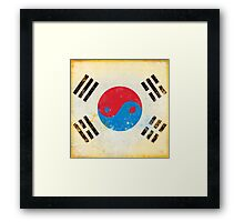south Korea flag Framed Print