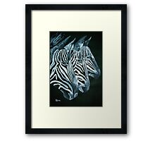 ZEBRAS   I PAD/TEES/PHONE/STICKERS/ART Framed Print