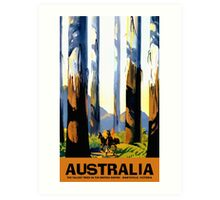 Vintage Australia travel tall trees Marysville VIC Art Print
